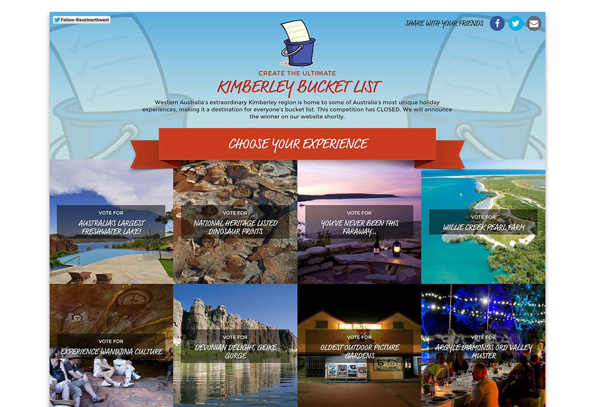 Kimberley Bucket List WordPress Development
